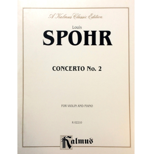 SPOHR - Concerto No. 2 for Violin and Piano