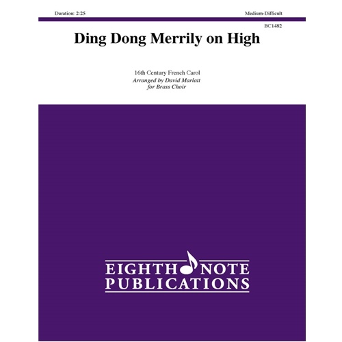 Ding Dong Merrily on High for Brass Choir