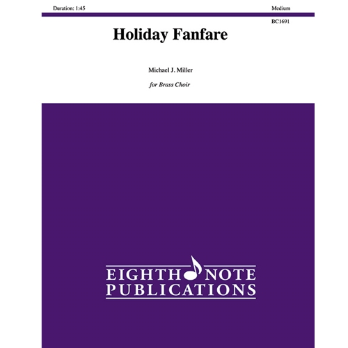 Holiday Fanfare for Brass Choir with Optional Percussion
