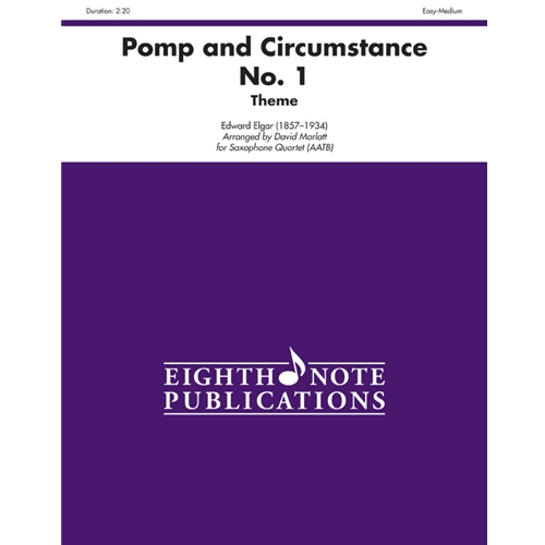 Pomp and Circumstance No. 1 (Theme) for Saxophone Quartet (AATB)