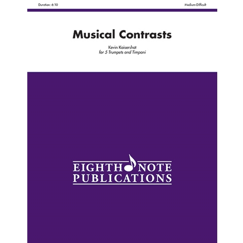 Musical Contrasts for 5 Trumpets & Timpani