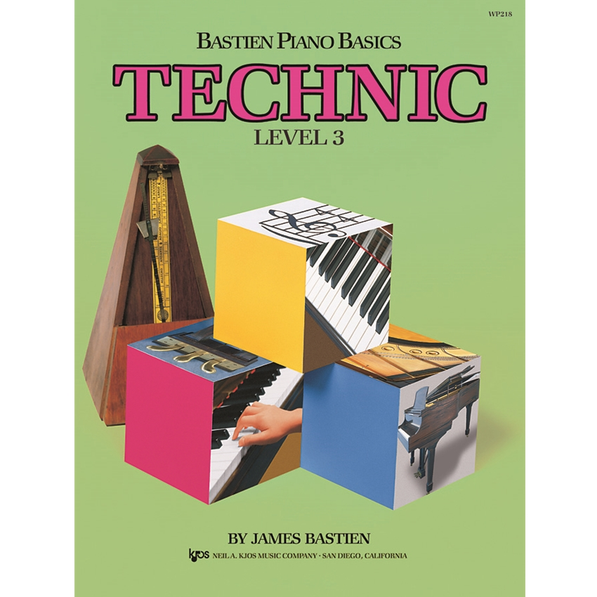 Bastien Piano Basics Technic, Level 3