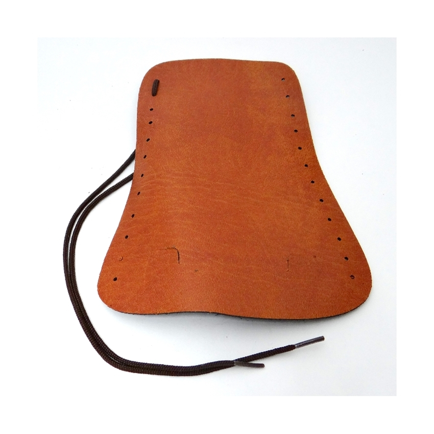 French Horn Guard, simulated brown leather with laces