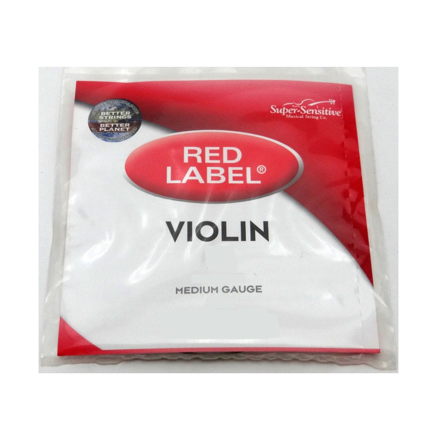 Red Label Violin Single A String, 1/8