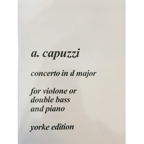 CAPUZZI - Concerto in D major for Bass and Piano