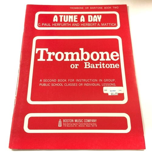 A Tune A Day Trombone Book 2 Ellis Music