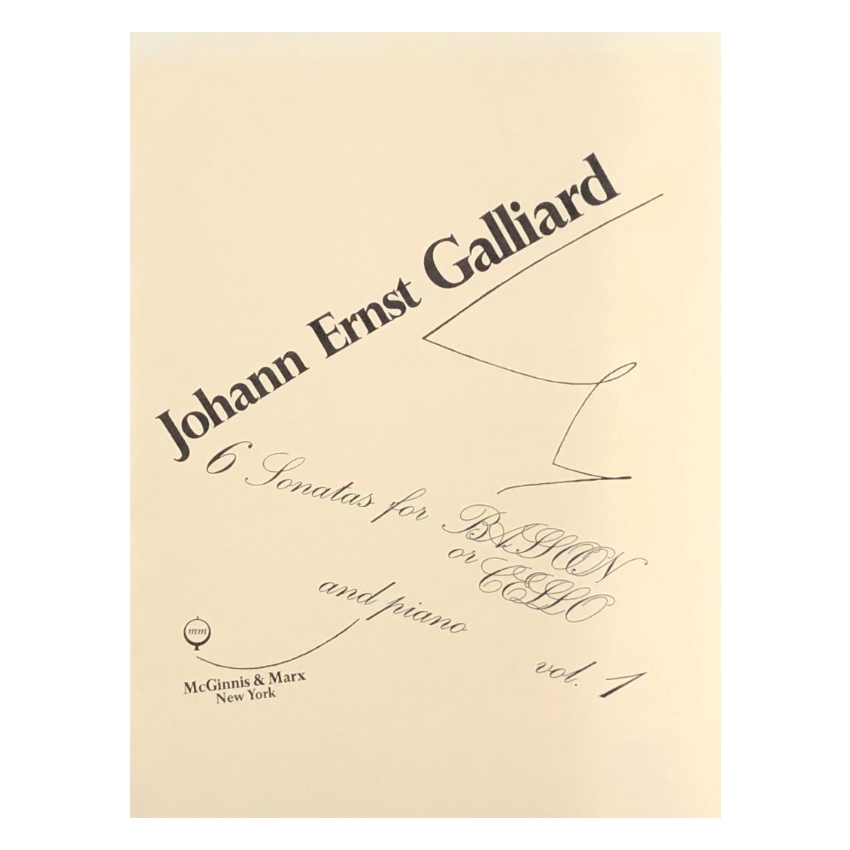 GALLIARD - Six Sonatas for Bassoon or Cello and Piano, Volume 1