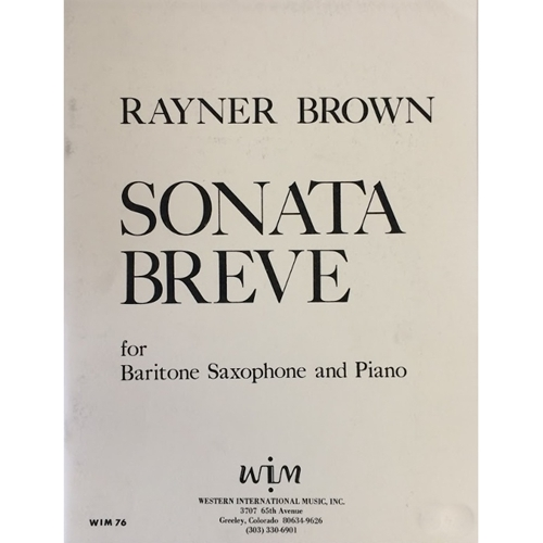 BROWN - Sonata Breve for Baritone Saxophone and Piano