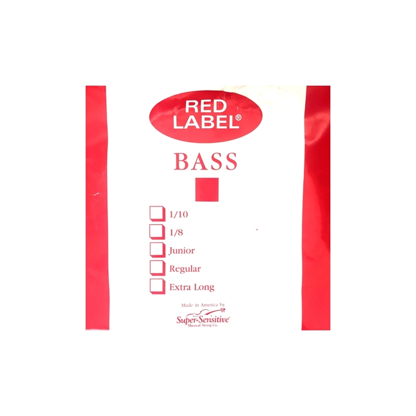 Red Label Double Bass D String, 1/4