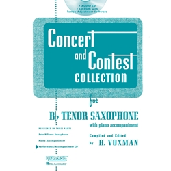 Accompaniment CD for Concert and Contest Tenor Saxophone