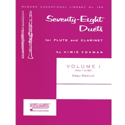78 Duets for Flute and Clarinet, Volume 1