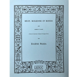 BOZZA - Recit, Sicilienne And Rondo for Bassoon and Piano