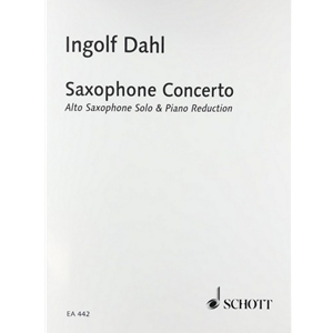 DAHL - Concerto for Alto Saxophone (piano reduction)