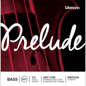 D'Addario Prelude Bass String Set, 1/2 Scale, Medium Tension