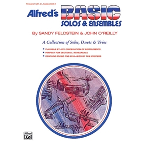 Alfred's Basic Solos and Ensembles, Book 2 [Percussion, Snare Drum, Bass Drum, & Accessories]