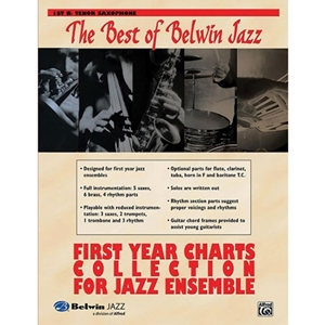 Best of Belwin Jazz: First Year Charts Collection for Jazz Ensemble - 1st Bb Tenor Saxophone