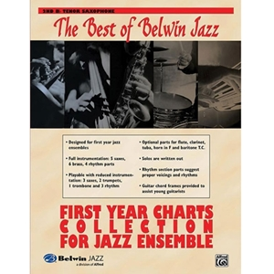 Best of Belwin Jazz: First Year Charts Collection for Jazz Ensemble - 2nd Bb Tenor Saxophone