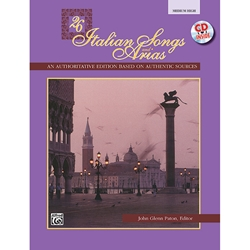 26 Italian Songs and Arias for Medium High Voice (Book & CD)