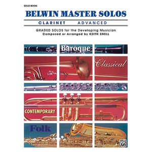 Belwin Master Solos for Clarinet, Volume 1 Advanced, Solo Book