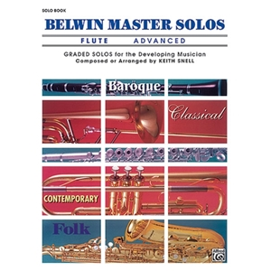 Belwin Master Solos for Flute, Volume 1 Advanced