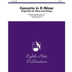 Concerto in D Minor (Originally for Oboe and Strings) for Brass Quintet