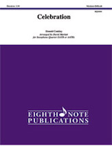 Celebration for Saxophone Quartet (SATB or AATB)