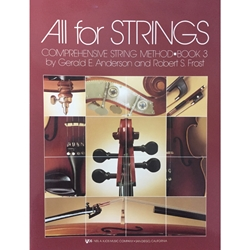 All for Strings - String Bass, Book 3
