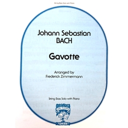 BACH - Gavotte for String Bass & Piano