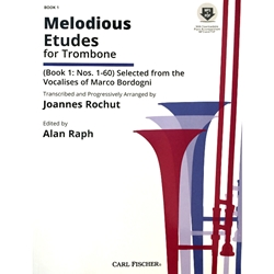 Melodious Etudes for Trombone, Book 1 (with downloadable piano accompaniment)