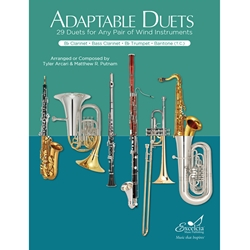 Adaptable Duets: 29 Duets for Any Wind or Percussion Instruments (Clarinet, Bass Clarinet, Trumpet Book)