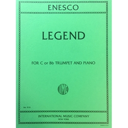 ENESCO - Legend for Trumpet (in Bb or C) and Piano