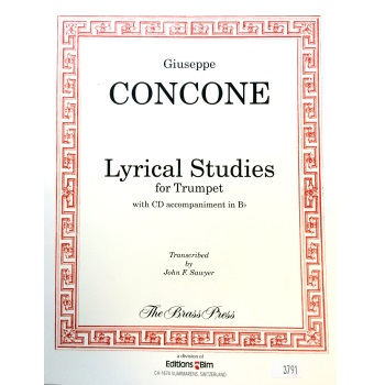 Concone Lyrical Studies for Trumpet (w/CD)
