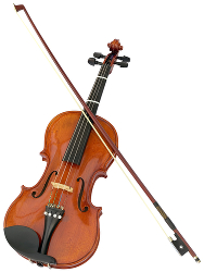Violin and bow photo